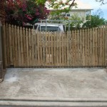 Sliding Driveway Gate – Aluminium Frame – Timber Colonial top batons – Automatic Gate Opener – Spring Hill – Brisbane – 4000