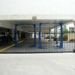 Sliding Driveway Gate – Aluminium – Round Aluminium Tube – Remote control Automatic Gate Opener – Newstead – Brisbane – 4006