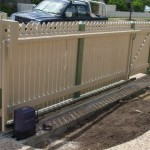 Sliding Driveway Gate – Aluminium Frame – Timber Batons Colonial Top – Remote Controlled Automatic Gate Opener – Sandgate – Brisbane – 4017