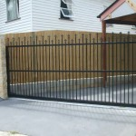 Sliding Driveway Gate – Aluminium – Round Tube Vertical – Spears – ATA Remote control Automatic Gate Opener – Kelvin Grove – Brisbane – 4059