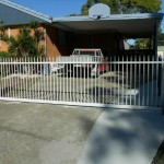 Sliding Driveway Gate – Aluminium – Round Tube – Vertical – Spears – ATA NeoSlide Remote control Automatic Gate Opener – Slacks Creek – Brisbane – 4127