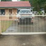 Sliding Driveway Gate – Aluminium – Round Tube – Spears – Remote control Automatic Gate Opener – Loganlea – Brisbane – 4131