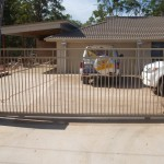 Sliding Driveway Gate – Aluminium – Double Top Rail – Round Tube – Vertical – ATA NeoSlide Remote control Automatic Gate Opener – Thornside – Brisbane – 4158