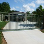 Sliding Driveway Gate – Aluminium – Double Top Rail – Round Tube – Vertical – ATA NeoSlide Remote control Automatic Gate Opener – Mango Hill – Brisbane – 4509