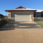 Sliding Driveway Gate Aluminium Gate Double Top Rail Round Tube Powder Coated Automatic Technology ATA NeoSlide Remote control Automatic Gate Opener Wellington Point Brisbane
