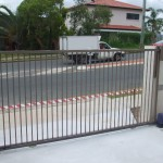 Sliding Driveway Gate – Aluminium – Round vertical tube – Powder Coated – ATA Automatic Gate Opener – Everton Park – Brisbane – 4053