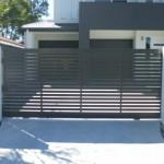 Sliding Driveway Gate – Aluminium – Slats Horizontal – ATA Remote control Automatic Gate Opener – Sherwood – Brisbane – 4075