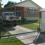 Sliding Driveway Gate – Aluminium – Round Tube – Vertical – Remote control Automatic Gate Opener – Acacia Ridge – Brisbane – 4110