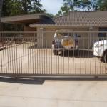 Sliding Driveway Gate – Aluminium – Double Top Rail – Round Tube – Vertical – ATA NeoSlide Remote control Automatic Gate Opener – Thornside – Brisbane – 4158