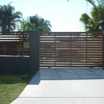 Sliding Driveway Gate – Aluminium Frame – Horizontal Timber Slats – ATA Remote control Automatic Gate Opener – Camira – Brisbane – 4300